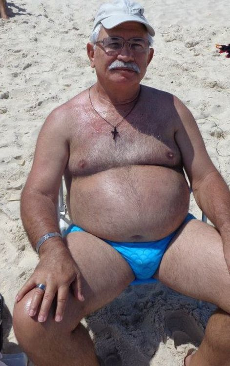 Old daddy mature bulge ball