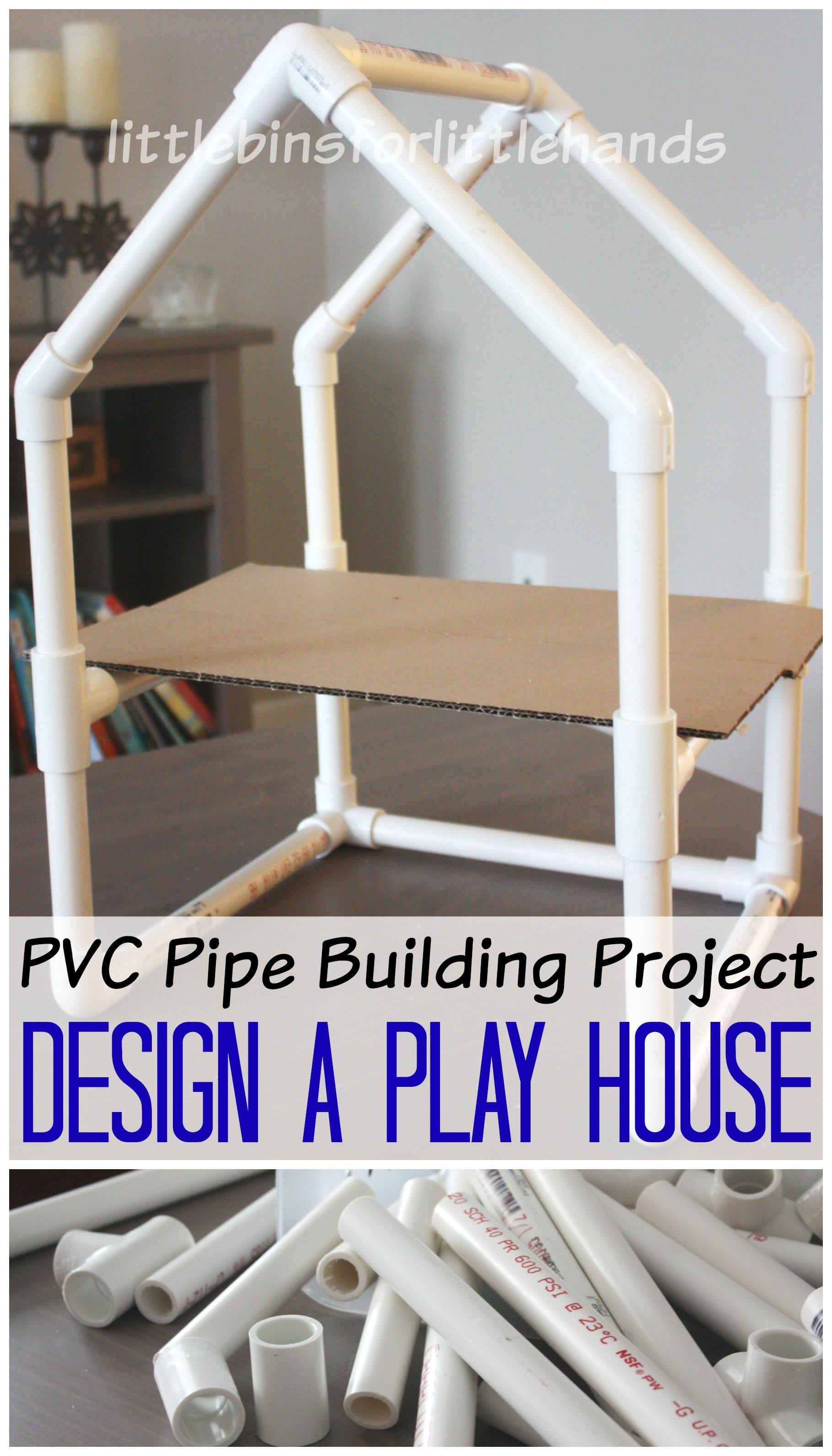 Pvc pipe house building project stem engineering activity for Simple pvc projects