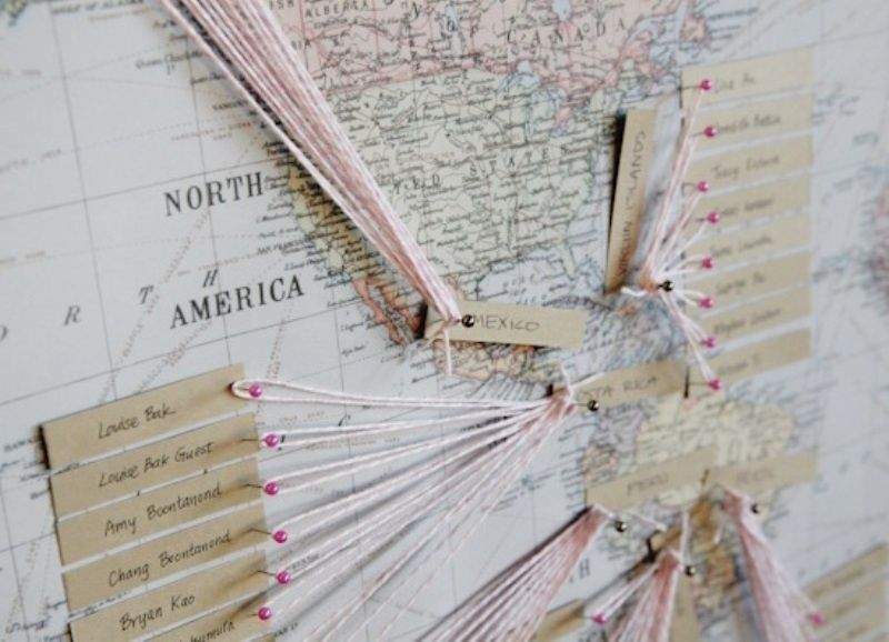 25 Travel Themed Wedding or Party Ideas Seating charts, Unique - wedding charts