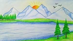 Resultado De Imagen Para Dibujo Paisaje Arbol Pinterest