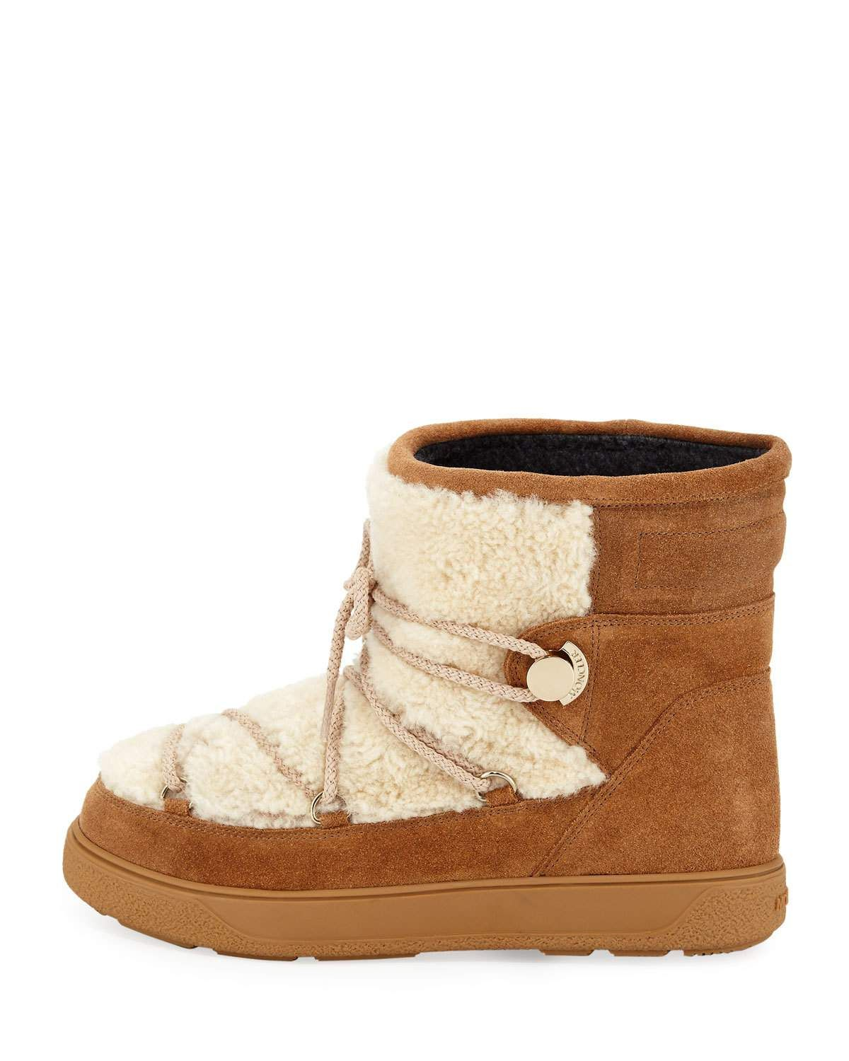 New Fanny Lace Up Shearling Fur Snow Boot | Products | Boots