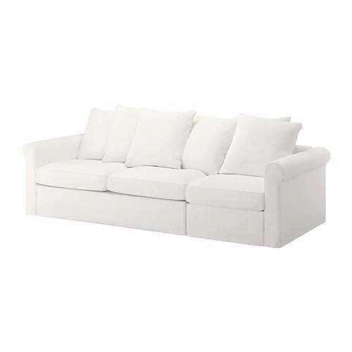 Gronlid Canape 3 Places Convertible Inseros Blanc Ikea Suisse Mobilier De Salon Ikea Et Coussin Assise