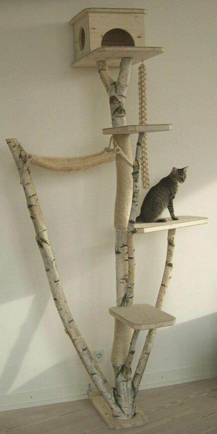 kratzbaum selber bauen 67 ideen und bauanleitungen katzen sachen pinterest. Black Bedroom Furniture Sets. Home Design Ideas