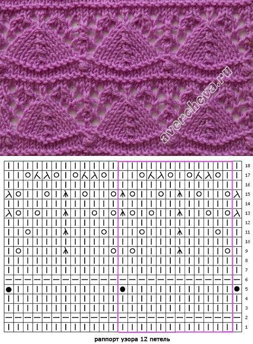 Lace knitting pattern 451
