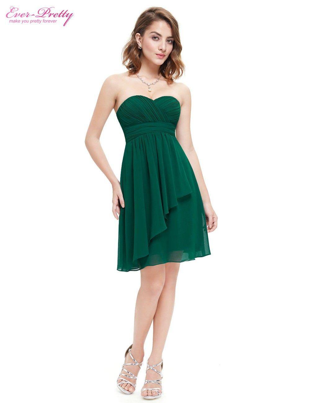 Clearance sale bridesmaid dress a line ever pretty blue coral short