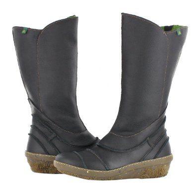 scarpe di separazione 0b1bb 47e88 El Naturalista 386 Grain Funghi Black Womens Boots: Amazon ...