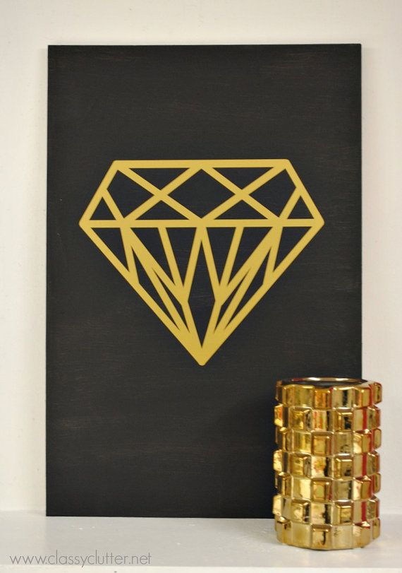 This adorable diamond decal is perfect to add a little sparkle to any space, car window, mirror, etc. Measures approximately 11.25 tall x