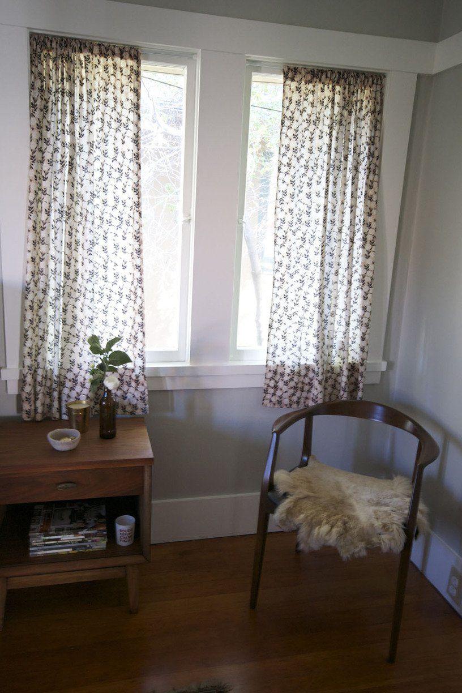 curtains inside window frame