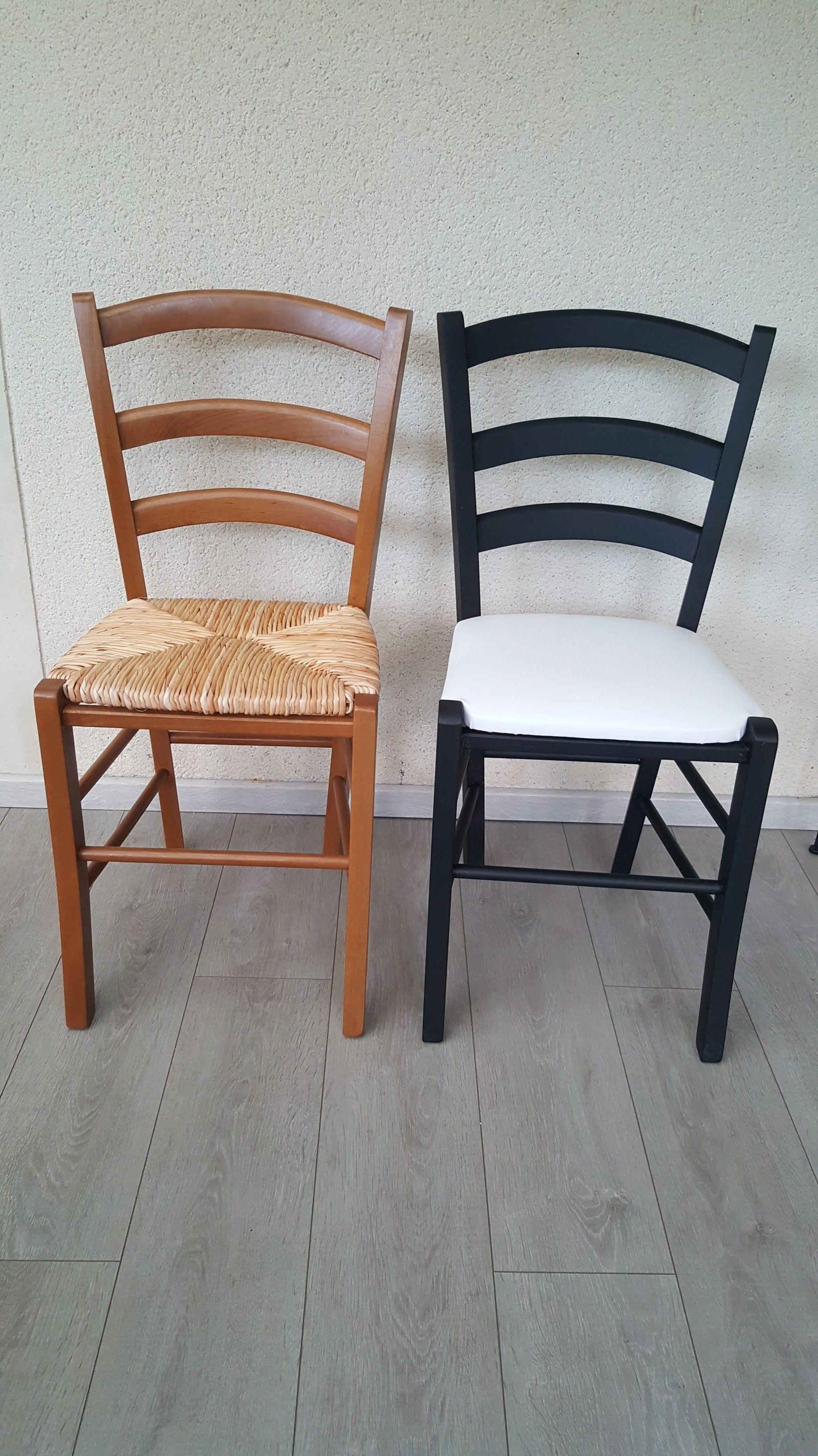 Chaises Paille Peintes Assise En Skai Chaise Paille Assise De Chaise Relooking De Mobilier