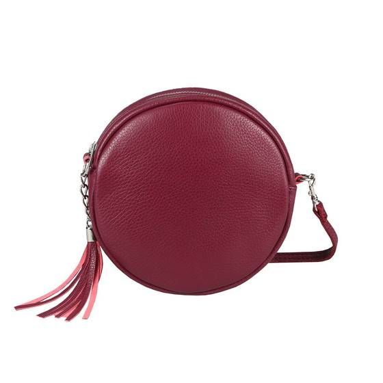 Photo of OBC Made in Italy Women's GENUINE Leather Bag Crossbody Round Shoulder Bag City Ba …