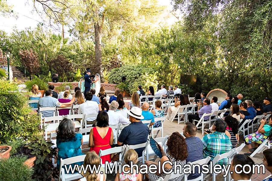 Wedding Ceremony At The Tucson Botanical Gardens Wedding Venue In Tucson AZ  Arizona By Michael Chansley