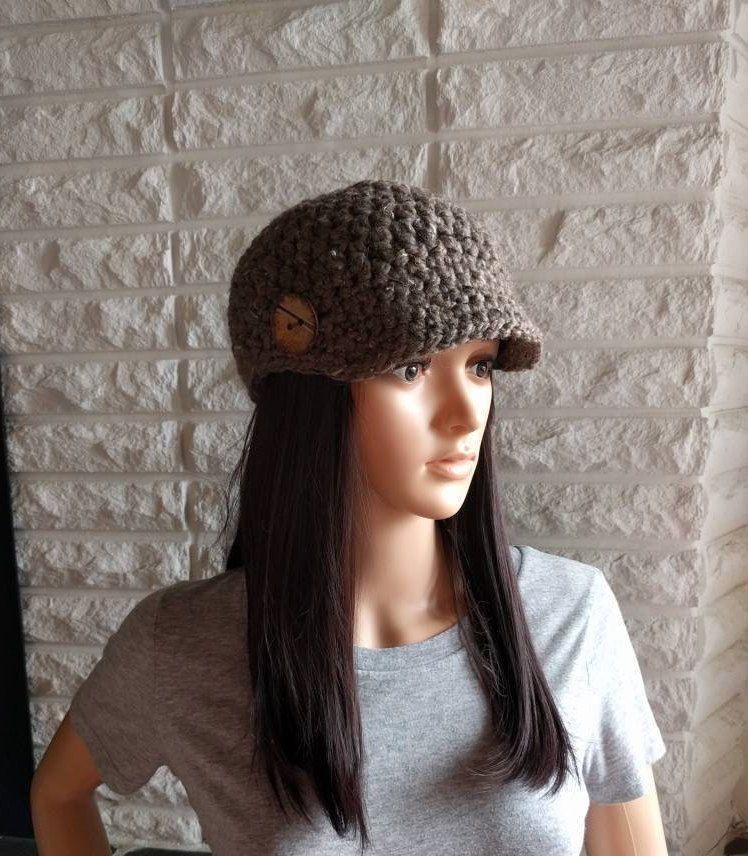 Brown Hats For Women Girls Beanie Hats Knit Hats Brim