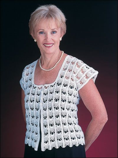 Square Neck Vest Crochet This Beautiful Vest For A Light Summer