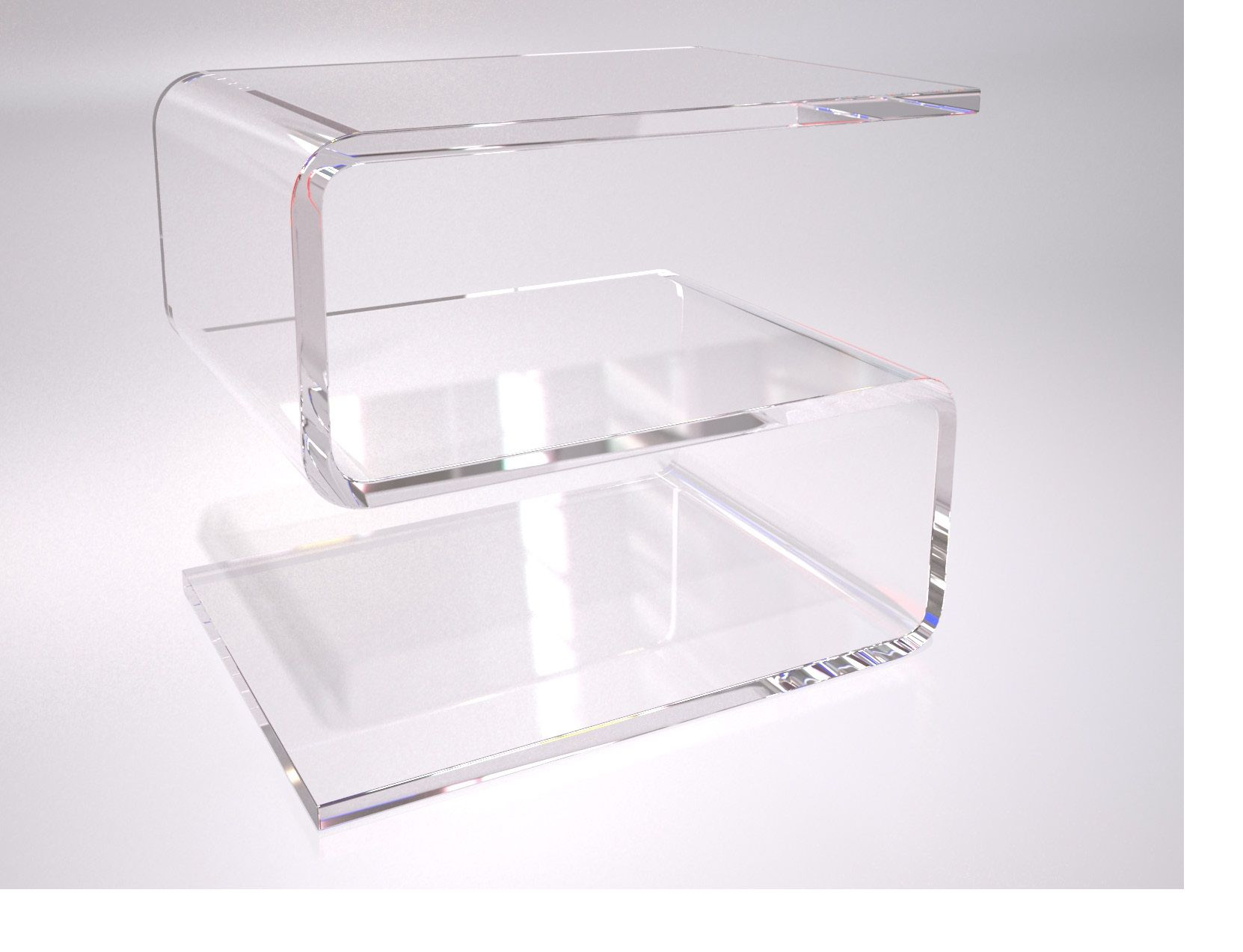Table Plexiglas Transparent This S Shaped Living And Bed Room Side Table Manufactured In One