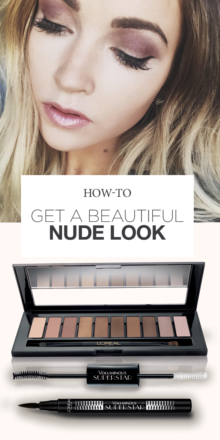 The beauty products Cara Loren used to create this nude eye. Start with golden bronze