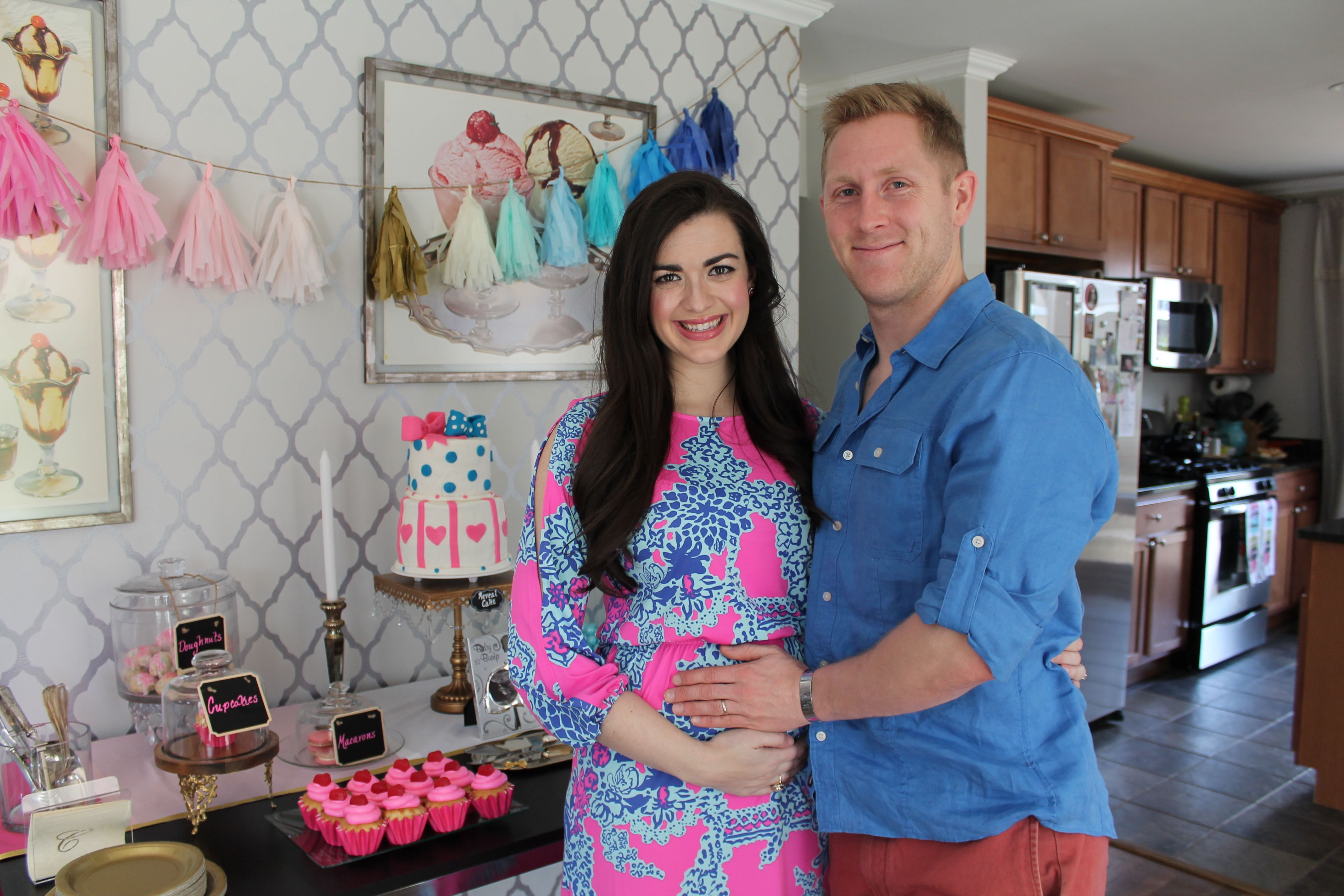 Gender Reveal Party Pink And Blue Dress By Lilly Pulitzer Gender Reveal Shower Gender Reveal Party Pink And Blue Dress