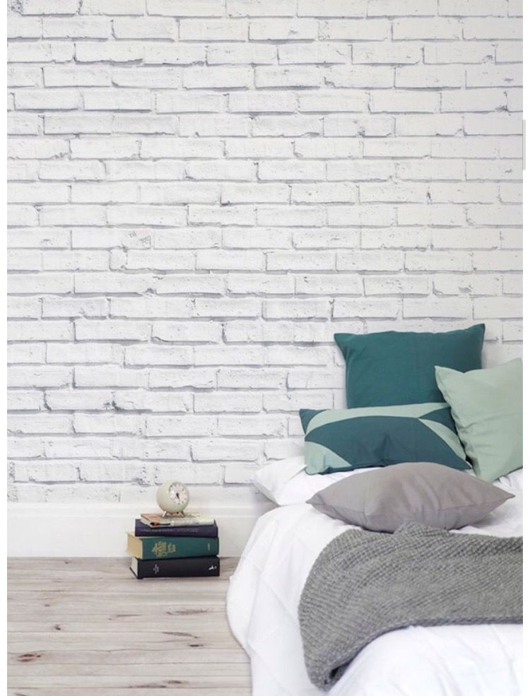Pin By Matin Karimi On Bedroom Ideas Brick Wallpaper Bedroom Brick Wall Bedroom White Wall Bedroom
