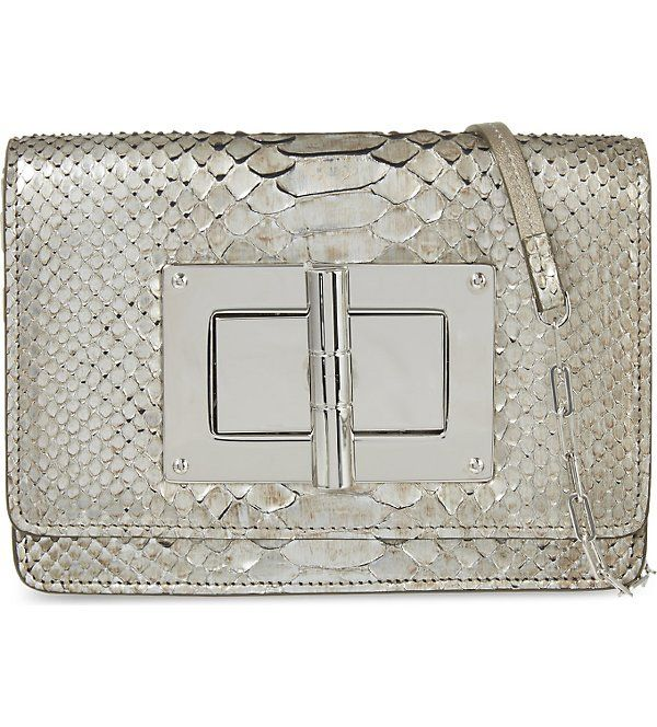 TOM FORD - Natalia small python shoulder bag | Selfridges.com