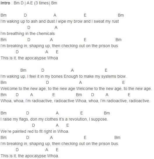 Imagine Dragons - Radioactive Chords