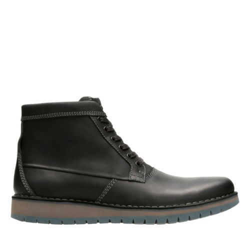 Varby Top Black Leather Men's Casual Boots Clarks® Shoes