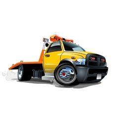 Cartoon Tow Truck Vector Vector Cartoon Art Vector Images