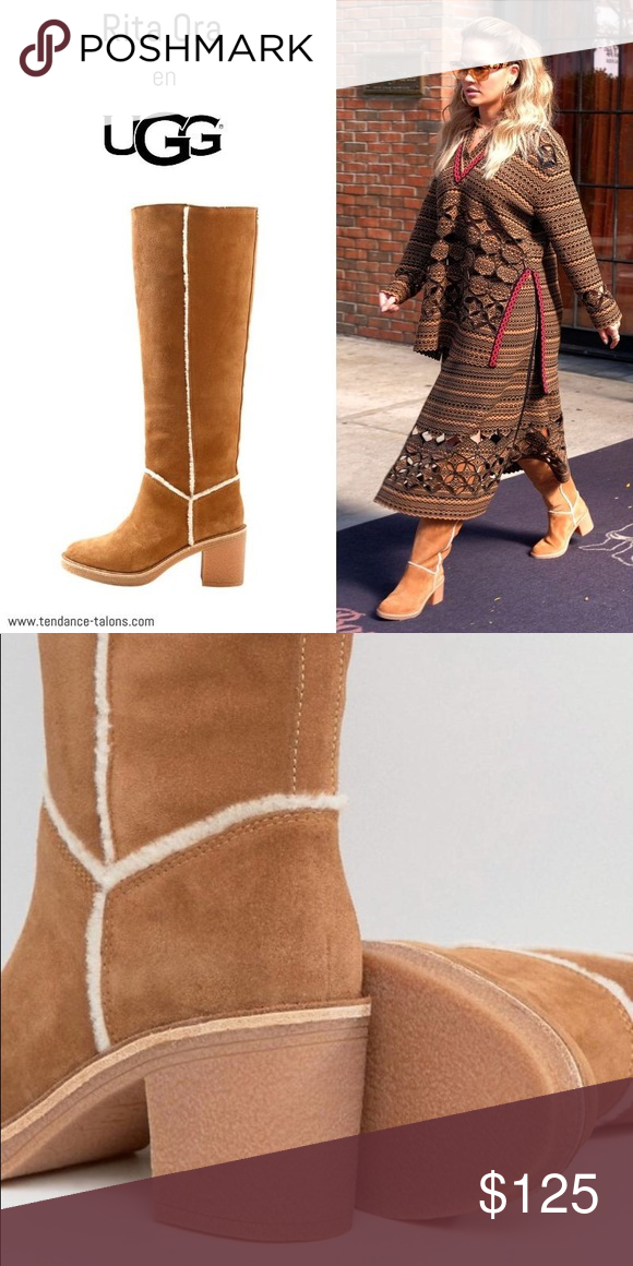 f8911d09370 UGG KASEN TALL CHESTNUT New without tags or Box Details A crepe-like rubber  outsole