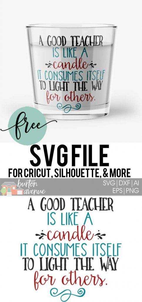 Free SVG Cut File - A Good Teacher | Cricut Explore Air 2 ...