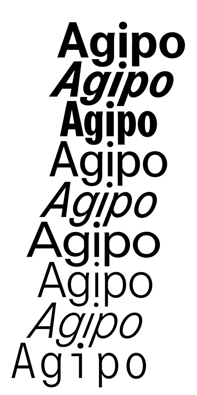 Gut gemocht Agipo — Radim Pesko | T Y P E | Pinterest | Typography, Fonts and Typo VI81