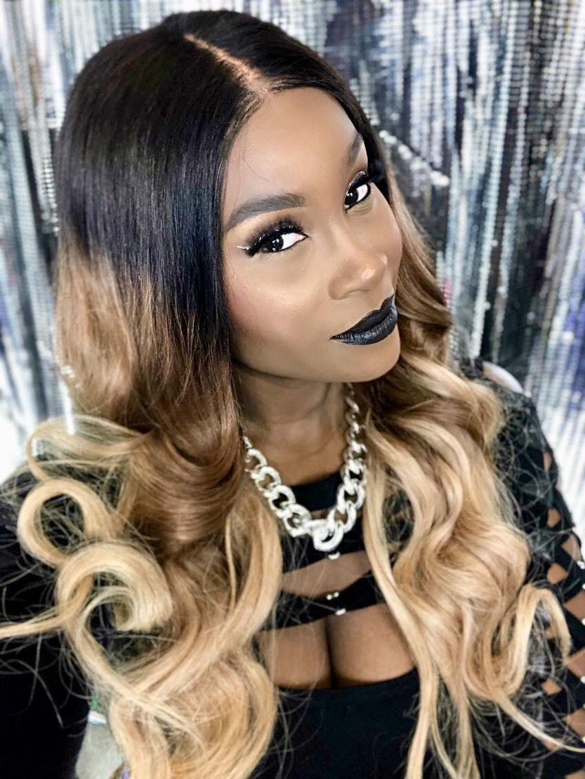 1b427 Ombre Color Straight Lace Front Human Hair Wigs With Baby