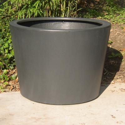 Adezz Fibreglass Acer Cylinder Planter Round Tapered Flower Shrub Tree Pot  Container Tub Garden Feature Large