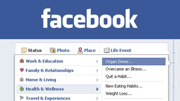 Study: Allowing organ donation status on Facebook increased