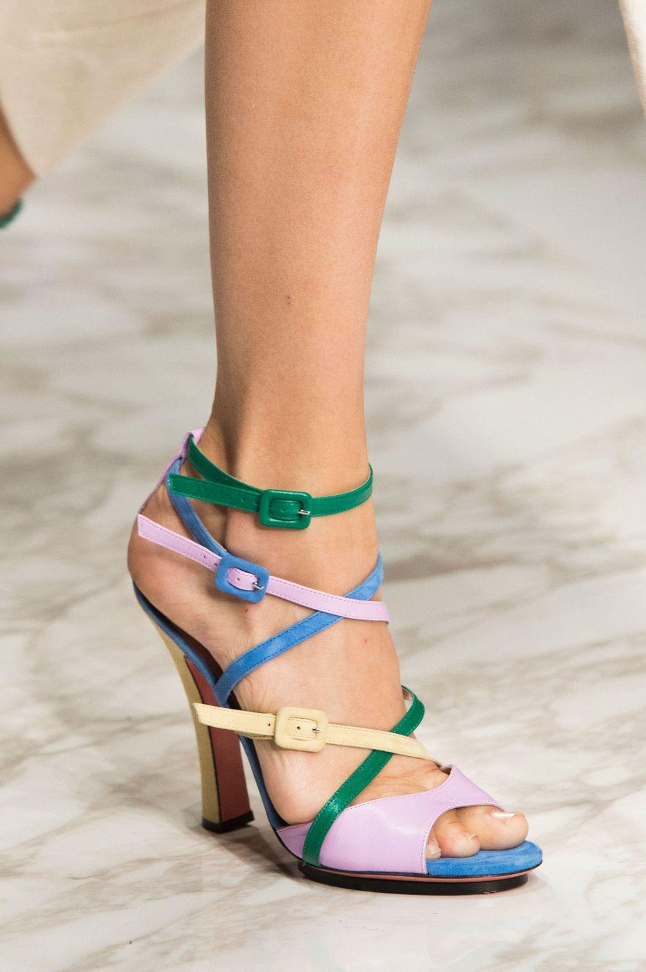 33148f4eebaf74 Blumarine at Milan Spring 2016 (Details). Phyle Style  Shoes Fashion  Gladiator ...