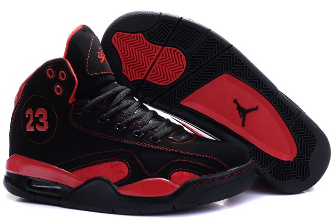 red and black jordan shoes