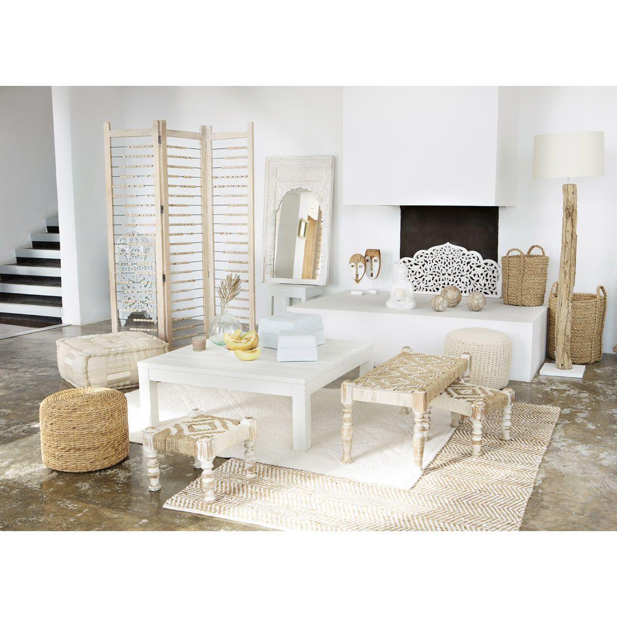 Tapis en toile de jute beige 140 x 200 cm BARCELONE   Maisons du ...
