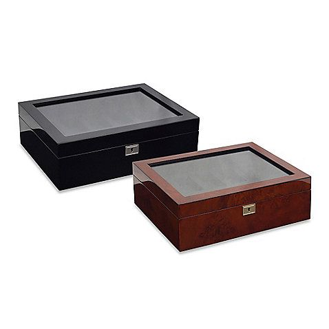 Savoy 10 Piece Watch Box Jewelry Display Case Display Case Packing Jewelry
