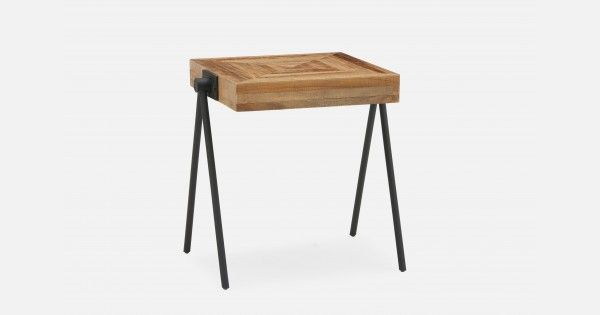ZAK Natural recycled teak wood end table 50cm | Structube ...