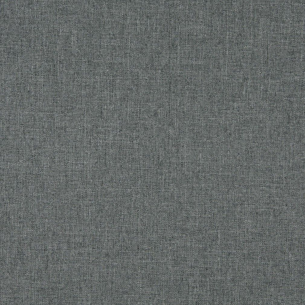 Charcoal Grey Solid Tweed Contract Grade Upholstery Fabric