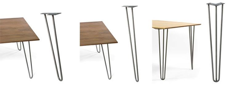 12 Places To Buy Metal Hairpin Table Legs   Raw Steel, Stainless Steel,  Rebar, Powder Coated U0026 More