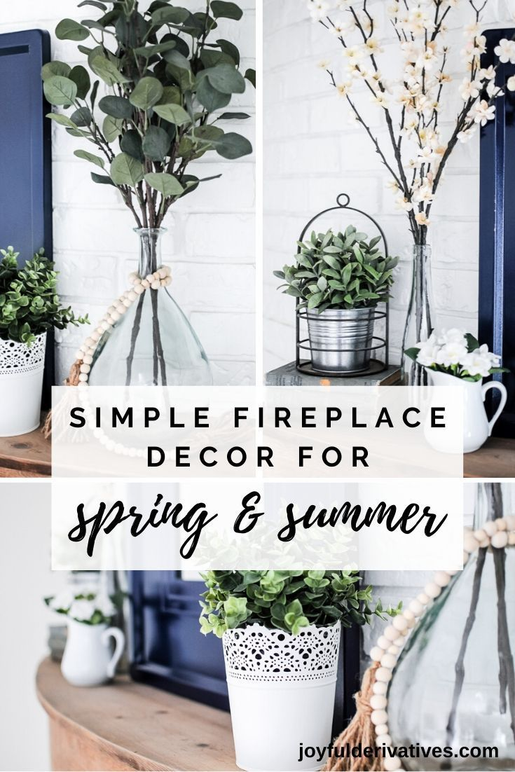 Photo of Modern Farmhouse Summer Mantel Decorating Ideas – Joyful Derivatives