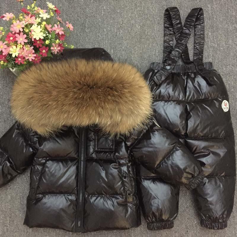 5d8045f2efba 2018 Children Russian Winter Baby Boy 90 Duck Down Jacket for Girl ...