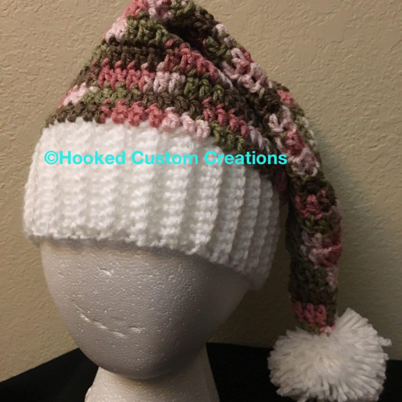 9fe74fd1253b6 Pink camo Santa hat