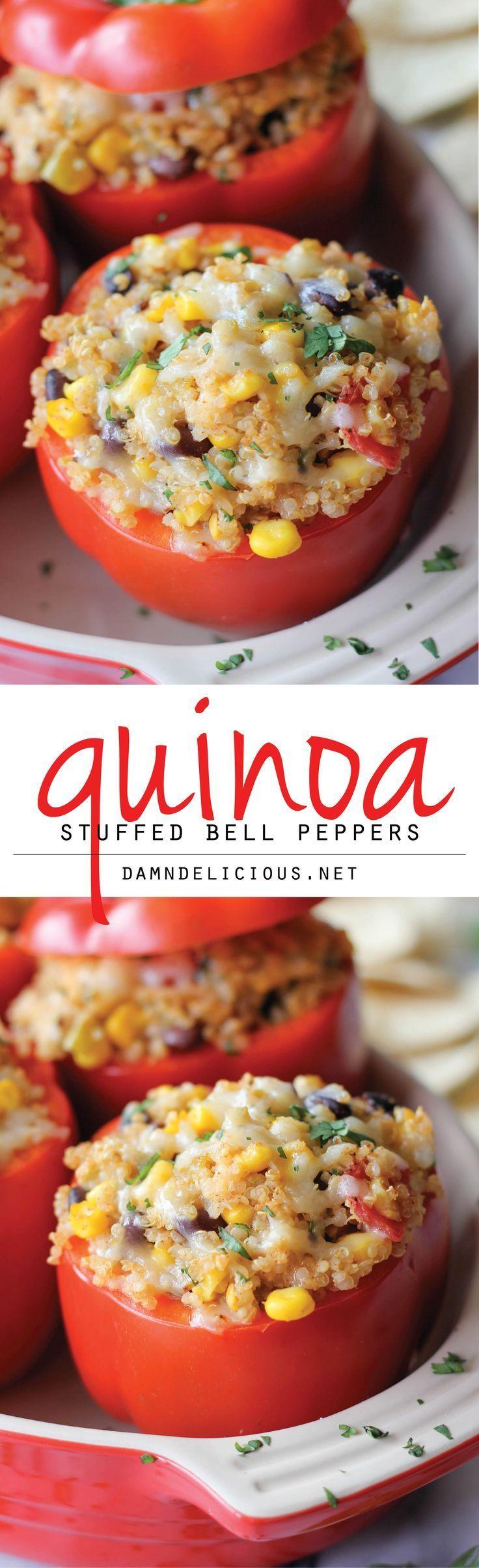 Quinoa Stuffed Bell Peppers #stuffedbellpeppers