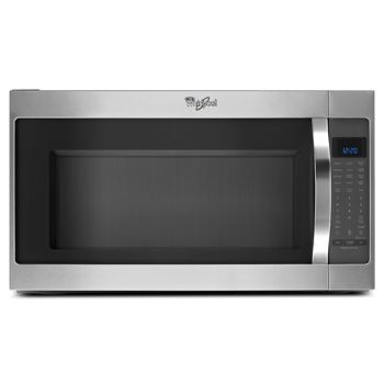 369 99 Costco Whirlpool 2 0cuft Stainless Steel Over The Range Microwave With Cleanrelease Non Stick Interior Wmh53520cs