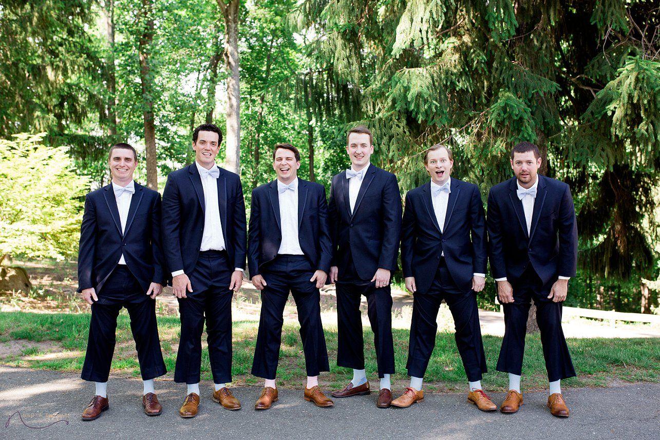 Hamilton Farm Golf Club Wedding, groomsmen in blue suits, navy ...