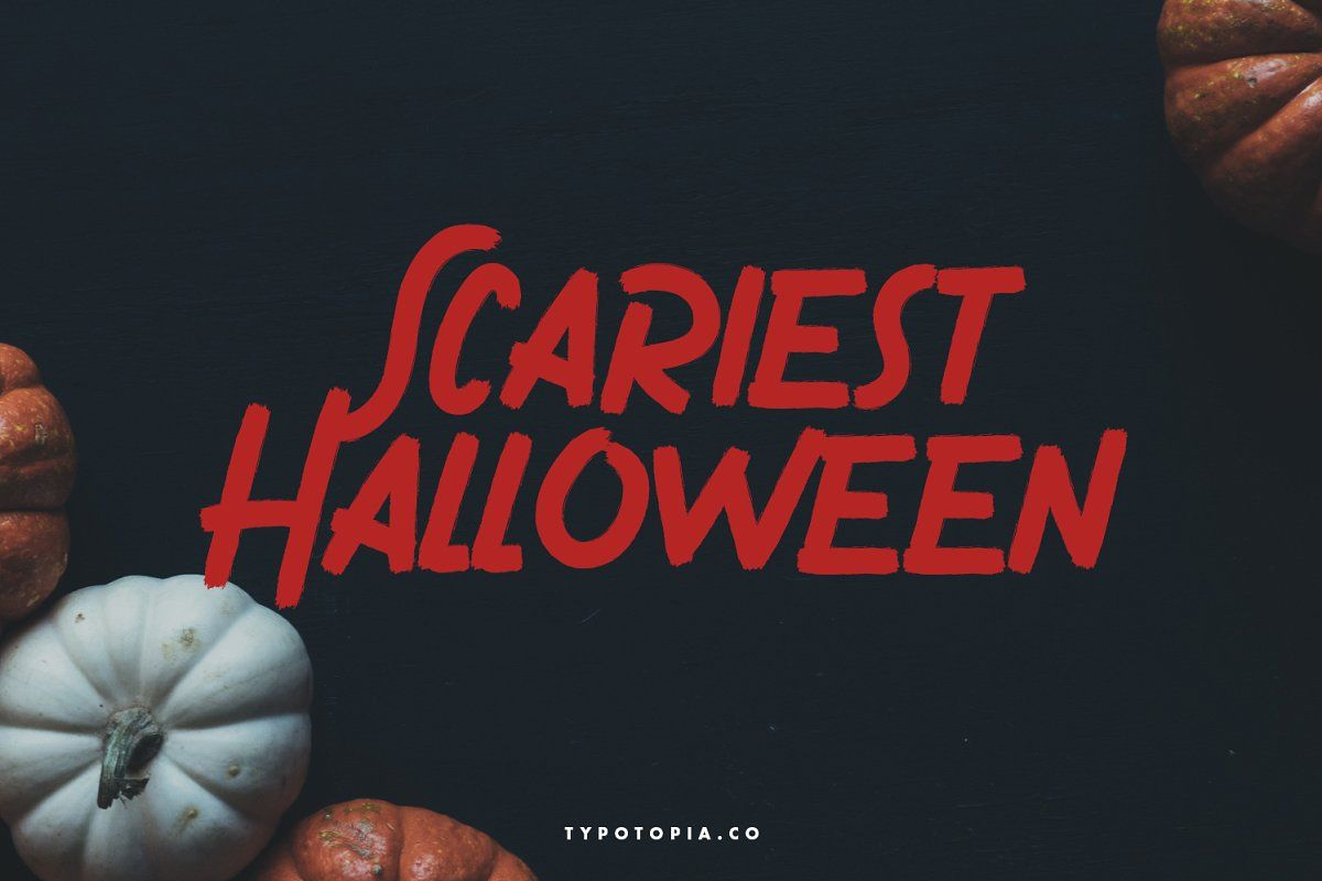 Gronzy brush font in 2020 brush font scary font