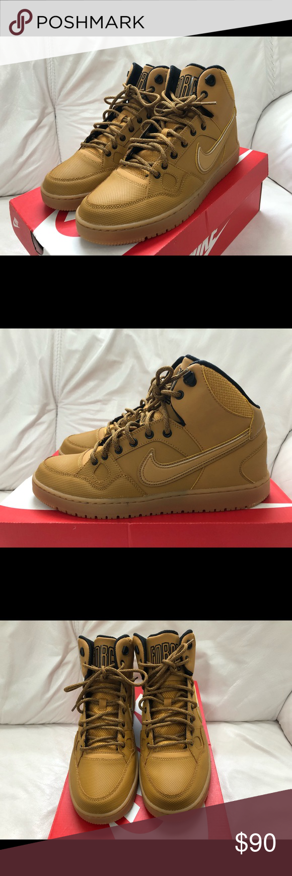 c7b2e4a498dd Nike Son Of Force Mid Winter Wheat Black Gum New Nike Son Of Force Mid  Winter Wheat Black Gum Light Brown Men s Size 10.5 New w  Box. Nike Shoes  Athletic ...