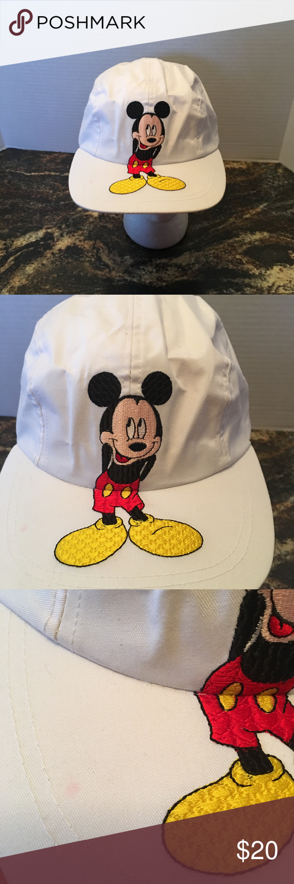 mickey unlimited mickey mouse white hat cap mickey unlimited mickey
