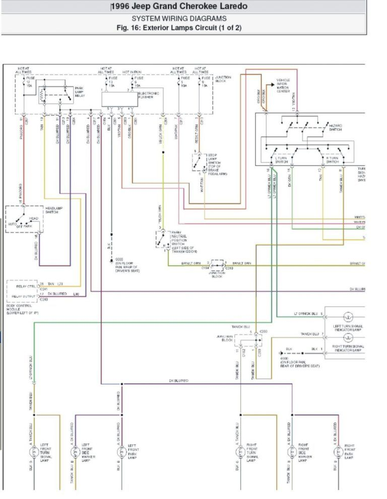 1998 jeep cherokee wiring schematic cpm  electrical wiring