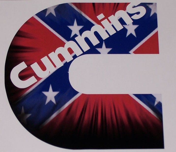 Cummins C REBEL FLAG Camo Full Color Graphic Window Decal Sticker - Rebel flag truck decals   how to purchase and get a great value safely