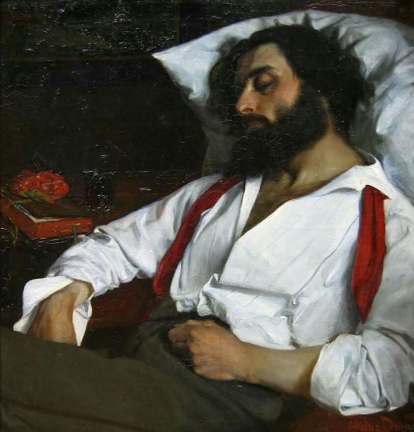 Image result for portrait of a sleeping man art